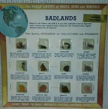 The World Library of rocks,gems and minerals Badlands.