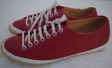Clarks Originals Tige De Cuir Leather Upper Shoes Size 9M Red