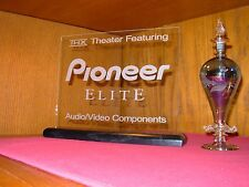 PIONEER ELITE ETCHED GLASS SIGN W/BASE