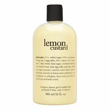 Philosophy Lemon Custard 16.0 oz Shampoo, Shower Gel Bubble Bath Brand New