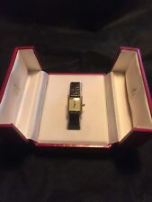 Ladies Gold Plated Must de Cartier With Cartier Box