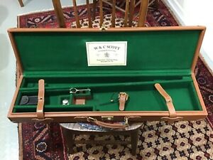 Genuine Leather Shotgun Case with accessories
