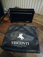 Visconti Mens Whist Bag As Black