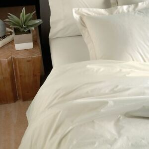 DONNA KARAN HOME ULTRA FINE COLLECTION ~ 4pc KING IVORY DUVET COVER  $650 NEW