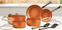Copper Chef NonStick Coating Cookware Pan Set Heavy Duty Cooking Set 10 Piece