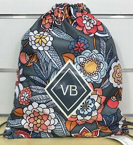 Vera Bradley Drawstring Backpack Backsack In Tropical Evening NWT MSRP $45