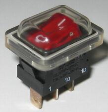 10 un Original Alpes SDL1P encendido-apagado interruptores de alimentación de montaje del panel 4A 250VAC