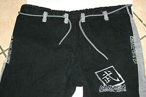 adult mens 38 x 27  Aim High Martial Arts Karate uniform pants black drawstrings