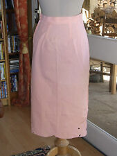 JUPE CRAYON LIN Emmanuelle Khanh T 36 VINTAGE 90 Linen Shirt S size 6 US 8 UK