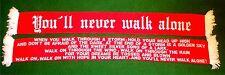 You´ll never walk alone Schal rot-weiss Ultra Fan Block 100% Acryl + 150x15cm