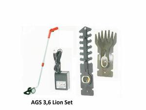 AGS 3,6 Lion Set Grizzly Tools Akku Grasschere  ZUBEHÖR Strauchmesser Ladegerät