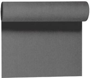 Duni Evolin Tete-á-Tete Tischläufer, grey, 0,41x24m, Tischband, Gastroqualität