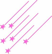 Pink Shooting Stars Car Motorbike Van Sticker Decal