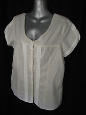 BNWT Ladies Sz 14 Rivers Brand Cute Taupe Stripe Cap Sleeve Pretty Summer Top