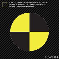 "4"" Crash Test Target Symbol Sticker Decal Self Adhesive Vinyl"