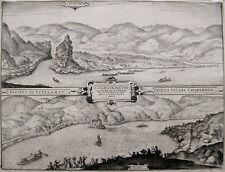 Donau 1650 bei Grein Austria Cataractae Danubii vulgo Strudl et Werbl Janssonius