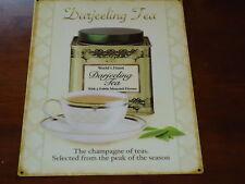 Darjeeling Tea Retro Large Metal Picture Plaque / Sign Nice Gift
