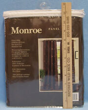 Monroe New Taupe Contemporary Grommet One Panel Curtain 52X84