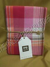 Pottery Barn Teen Prescott Bed Dorm Duvet Cover Full Queen FQ F/Q pink plaid