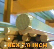 Brass Rod 7/8 Inch Hex FREE CUTTING BRASS ALLOY C385 PER 1 METRE LENGTHS