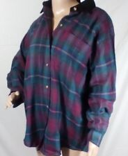 Basic Editions Size Small Womens Long Sleeve Button Up Cotton Checks Shirt Top