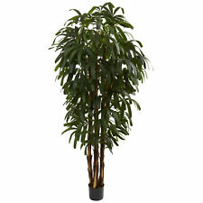 Raphis Palm Tree Artificial Silk Plant Nearly Natural 6' Home Office Decoration