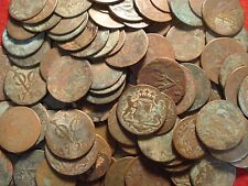Cinco 1790 holandés VOC 1 Duit & 2 duits alias Primera Nueva York Penny ex-naufragio monedas