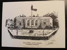 Marvin Stalnaker Post Office at Five Points Print 583/1000 Historic Franklin,TN
