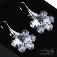 CHRISTMAS SNOWFLAKES 20MM CRYSTALS FROM SWAROVSKI® 925 SILVER EARRINGS COMET CAL