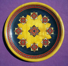Decorated Painted Turned Wooden Wall Plate
