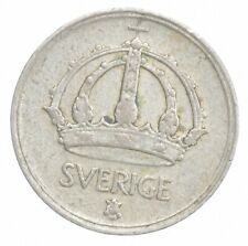 SILVER Roughly the Size of a Dime 1946 Sweden 10 Ore World Silver Coin *153