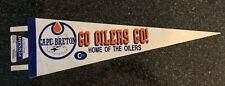 1980's Cape Breton Oilers 8x25 Felt Pennant AHL