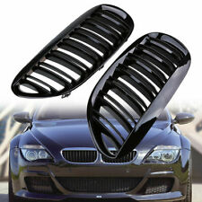 Front Kidney Grill Grille Glossy Black for BMW E63 E64 M6 2006-2010 Left+Right