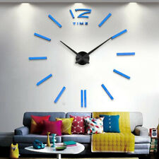 W12 Modern Frameless DIY Wall Clock Large 3D Wall Watch Non Ticking for Living