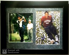 Tiger Woods Autographed Signed Early Career Stanford Golf Photo Photograph BGS