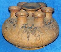 Vintage Studio Pottery 7 Stem Ikebana Vase Flower Arranging Bulb Vase