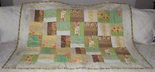 Hazel & Plum Moda Fabrics Flowers & Berries Handmade Quilt Fence Rail Pattern