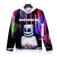 DJ-Marshmello Marshmallow Costume Hoodie Sweater Sweatshirt Pullover Jacket EDM