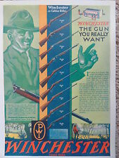 Winchester Firearms,1920's Advertising Poster,Features 9 Vintage .22 Rifles