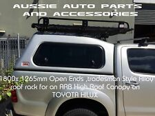 Steel Roof Rack+Support+Installation for Toyota Hilux 2005> ARB Canopy Hi Roof