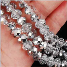 DIY Jewelry Faceted 148PC 3*4mm Cheap wholesale silver white crystal bead