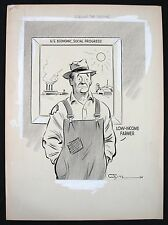 SPOILING THE PICTURE  APRIL 28,1955 11X15 ORIGINAL ARTWORK BY NED WHITE HV7888 Comic Art