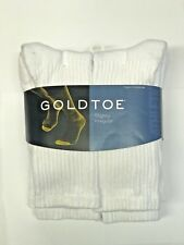 GOLD TOE CREW SOCKS 6 PACK WHITE !!!