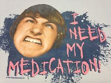 Fred Figglehorn I Need My Medication Small Gray T-shirt You Tube Nickelodean