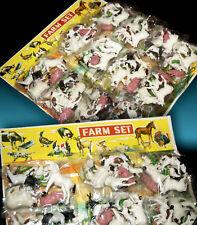 Granja farm animals figuras de animales vintage OVP 70s hong kong reseller card 108pc