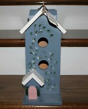 Large Handpainted Decorative Wooden Birdhouse - New
