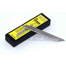 50 Pcs Snap Off Blades 9mm Carbon Steel fo OLFA Lockable Knife 30° Scratch-Free
