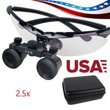 Convenient Dental Surgical Medical Binocular Loupes 2.5X Adjustable Glass + Case