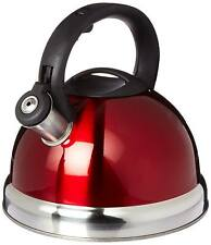 Royal Cook Red Stainless Steel Whistling Kettle Deluxe 3.0L