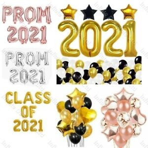 """PROM 2021 Foil Letter Balloon Party Graduations High School 16"""" CLASS OF 2021"""